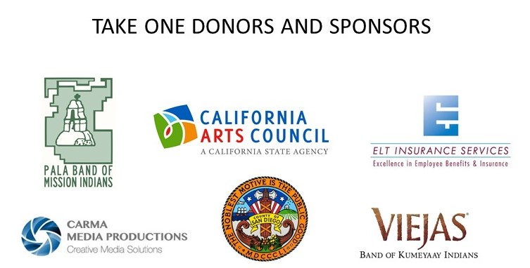 Take One Media Internship Donor & Sponsor Logos